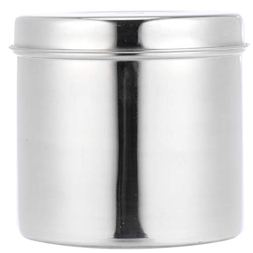 Baluue Caja de Hisopo de Algodón de Acero Inoxidable Esterilizador de YODO Puede Boticario Jar Case Medical Qtip Nail Tattoo Desinfección Tanque Olla Contenedor con Tapa 10Cm