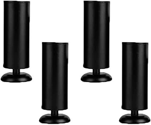 4Pcs Patas de muebles Patas de sofá modernas ajustables Pies de muebles Accesorios Reemplazo de gabinete de mesa Sofá de metal Escritorio Patas de cama Elevadores de muebles de acero inoxidable, Negro