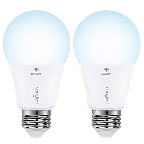 Sengled Smart Light Bulbs, WiFi Light Bulbs No Hub Required, Smart Bulbs That Work with Alexa, Google Home, Smart LED Light A19 Daylight (5000K), 800LM 60W Equivalent, 2 Pack