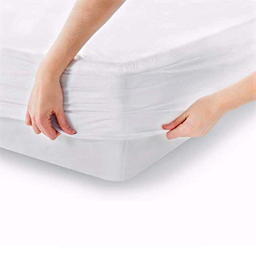 MELUNDA Waterproof Fitted Mattress Protector - Baby Cot Bed 70 x 140 cm - Pack of 2 - Cotton Mattress Topper - Hypoallergenic & Dermatologically Tested