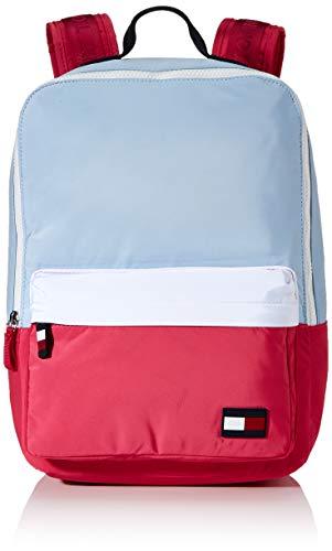 Tommy Hilfiger - Kids Square Backpack Cb, Mochilas Unisex Niños, Multicolor (White/Pink Mix), 1x1x1 cm (W x H L)