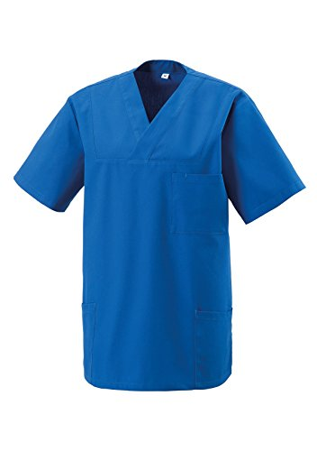 Schlupfkasack Kasack Schlupfjacke Schlupfhemd für Medizin und Pflege OP-Kleidung Royalblau Gr. S