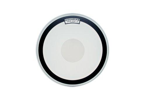 Aquarian Drumheads SKIII28 Super-Kick III Single 28-inch Bass Drum Head, with Dot