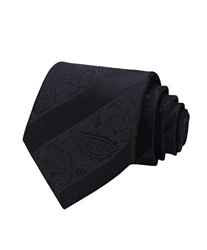 HISDERN Extra Long Floral Paislry Tie Handkerchief Men's Necktie & Pocket Square Set