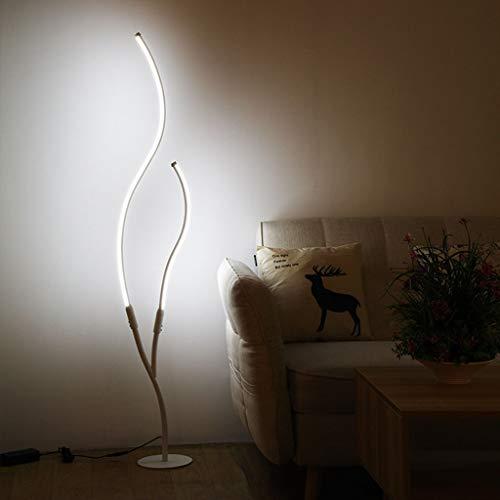 JDKC- Lámpara de Pie de Arco LED Moderna Atenuación Continua con Mando a Distancia Lámparas de Pie de Interior Luces Decorativas de Brillo Ajustable (Color : Gold)