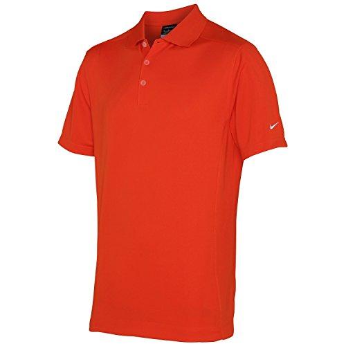 NIKE - Polo de Deporte/Deportivo Modelo Dry-Fit para Hombre/Caballero - Verano/Vacaciones/Deporte/Ejercicio (S) (Naranja Team)