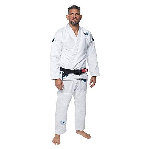KINGZ IBJJF Mens - Nano 2.0   Brazilian Jiu Jitsu Gi   White A1