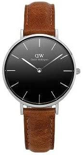 [ダニエル・ウェリントン]Daniel Wellington 腕時計 DW00100178 Classic Petite Durham 32mm ブラック/シルバー/ブラウン レディース [並行輸入品]