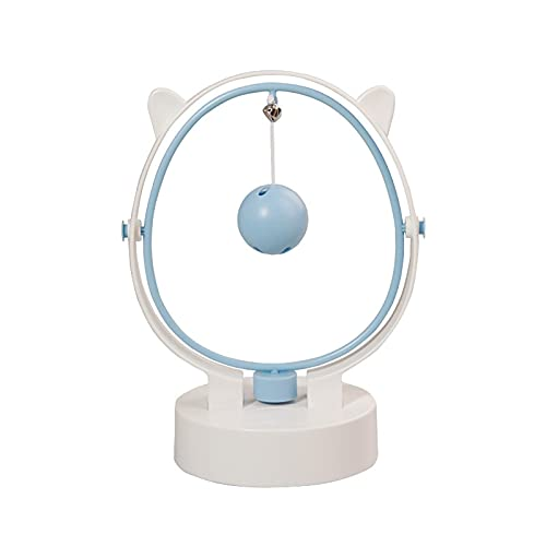 Vecksoy Gato Bell Ball Juguetes interactivos Sacudiendo Precioso Antideslizante Movimiento Perpetuo Gato Alimentador Juguete Ejercicio Pensamiento Mejorar Inteligencia IQ Juguetes Bola