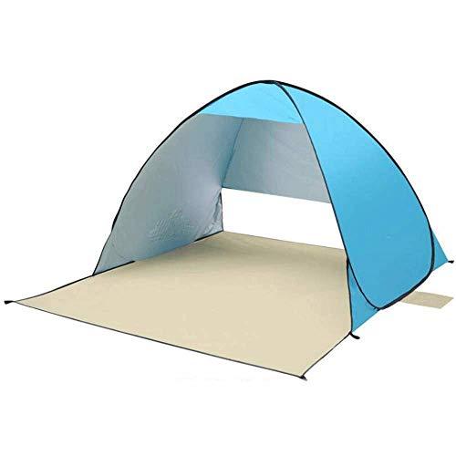 XUSHEN-HU Toldo de playa para playa, toldo para exteriores, fácil de instalar, 3 – 4 personas, ligero y fácil de transportar 150 x 120 + 60 x 110 cm