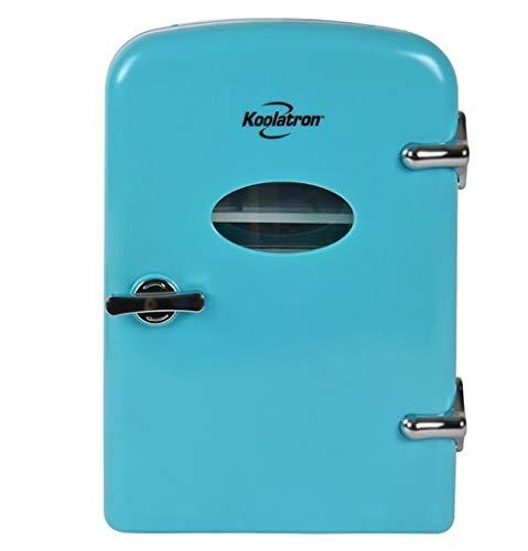 Koolatron KRT04-P 6 Can AC/DC Retro Electric Mini Cooler in Pink (4.2 Quarts/4 Liters) (Blue)