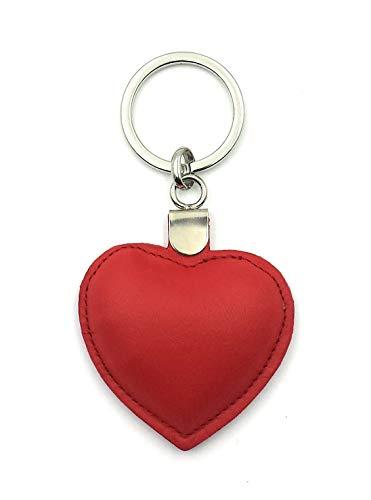 Llavero corazón hecho en Piel Ubrique - Alta Calidad - Amuleto AMOR