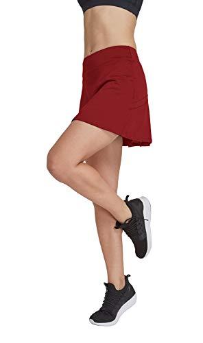 HonourSport - Falda de tenis para mujer con mallas deportivas, tallas XS - XXL rojo XL