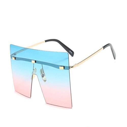 Genrics Frauen-Verlaufslinsen Übergroße randlose quadratische Sonnenbrille Außenbeschattung 5
