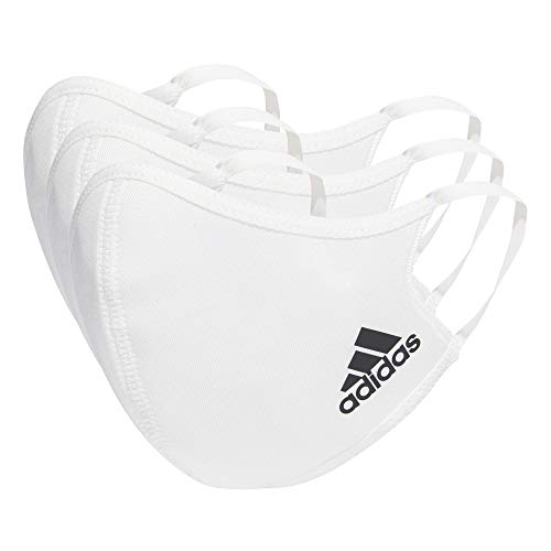 adidas Face Cover XS/S-Not For Medical Use, Unisex niños, White, S (Paquete de 3)