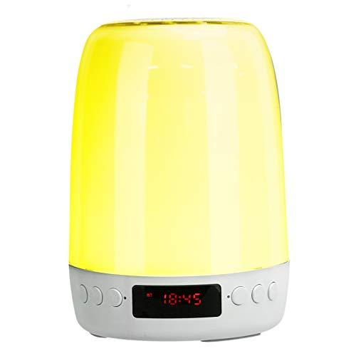 Goshyda Altavoz Bluetooth, Control táctil inalámbrico portátil, Colorido Altavoz de Audio con luz Nocturna LED, para Actividades al Aire Libre en el Dormitorio de la Oficina en casa