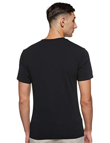 Calvin Klein S/s Crew Neck 2pk Top de Pijama, Negro (Black/Grey Heather BHY), L (Pack de 2) para Hombre
