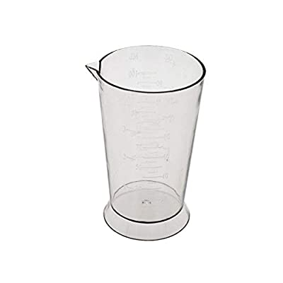 Colortrak Beaker, Easy To Read Color Beaker, Measurement Markings in Ounces and Milliliters, 4 ounce Capacity, Ideal For All Stylists, Easy To Clean, 3.7 inches high