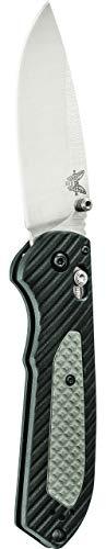Benchmade - Freek 560, Drop-Point Blade, Plain Edge, Satin Finish, Black/Grey Versaflex Handle, Made in the USA