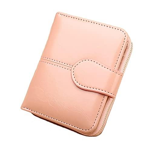 xzyq Monedero Corto Retro de Cuero de PU, Nuevo Monedero de Cuero de Cera de Aceite para Mujer, Bolso de Mano de Cuero de Aceite de Cartera pequeña.11 * 3.5 * 9cm