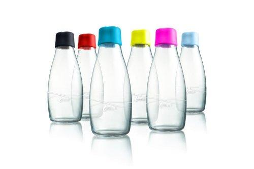 Wiederverwendbare Wasserflasche mit Verschluss - 0,5 Liter, Deckelfarbe:Limette