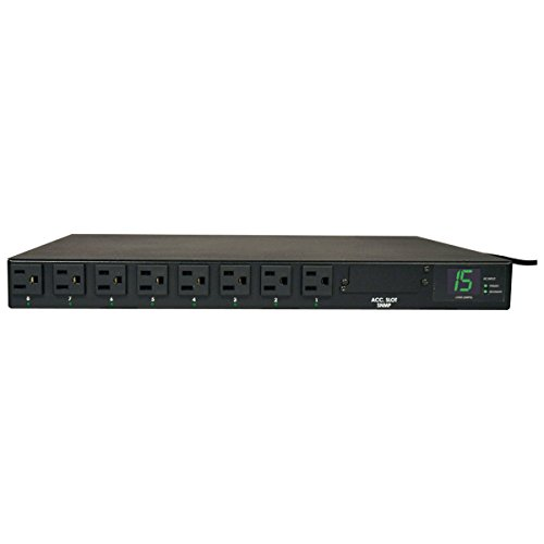 Tripp Lite PDUMH15AT Metered PDU with Automatic Transfer Switching - Power distribution unit ( rack-mountable ) - AC 120 V - 1800 VA - 8 output connector(s) - 1U