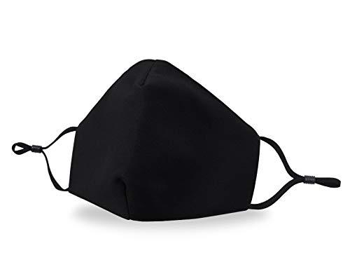 Allsense Unisex Premium Quality Protective Durable Reusable Breathable Comfortable Fashion Face Mask Covering Cotton Black 1pk