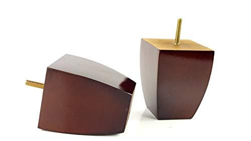 Knightsbrandnu2u PKC360 Möbelbeine aus Holz, 8 mm, 100 mm hoch, Ersatzfüße für Hocker, Stühle, Sofas, Schränke, Betten, 4 Stück braun im antik-Finish