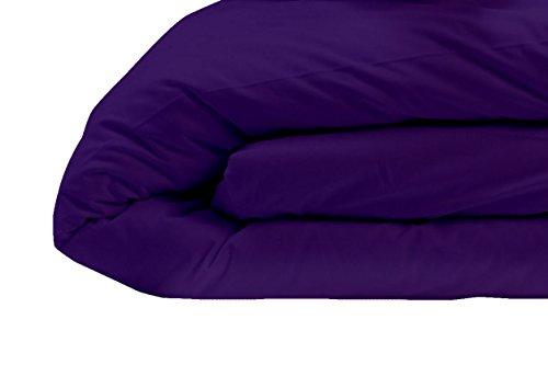 Nuit De France Housse DE Couette Unie Coton 57 Fils Coloris Mure 100%, Violet, 140/200