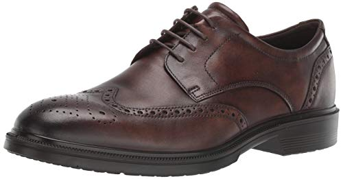 ECCO Men's Lisbon Brogue Oxford, Cocoa Brown, 42 M EU (8-8.5 US)