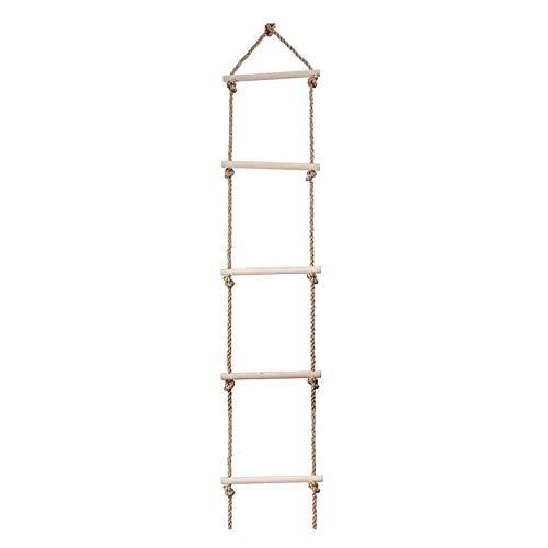 NJYBF Strickleiter für Kinder und Erwachsene bis 120 kg, für Outdoor und Indoor, Seilleiter (1,8 m - 5 Sprossen)