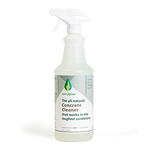 Naturama, All Natural Concrete Cleaner, Eco-Friendly EPA Registered for Driveways, Sidewalks, Garages, etc. Strongest Deep Cleaning. Made in the U.S. (32 oz)