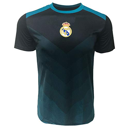 Real Madrid Training Poly Jersey for Kids, Licensed Real Madrid Shirt (Youth X-Large 13-15 Years) Black