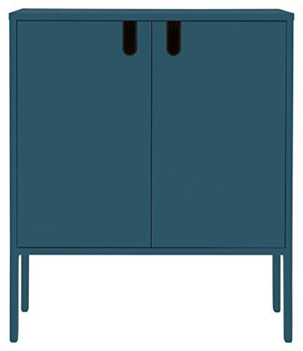 TENZO 8552-023 UNO Designer Schrank 2 Türen, MDF/Spanplatte, Petrol, 76 x 40 x 89 cm