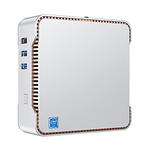NiPoGi Mini PC,12GB DDR4+128GB ROM Windows 10 Pro Intel Celeron J4125 Procesador Mini Ordenador, Soporte para Triple Pantalla, WiFi de Doble Banda,BT 4.2, 4K UHD,Oficina en casa Business PC pe