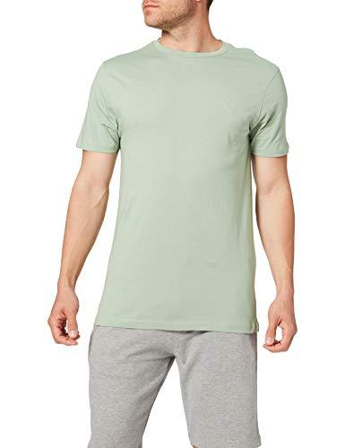 Springfield Camiseta básica Logo Camisa, Verde_V2, M para Hombre