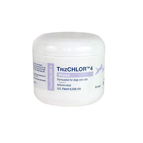 Dechra Trizchlor 4 Wipes for Dogs & Cats 50 Ct