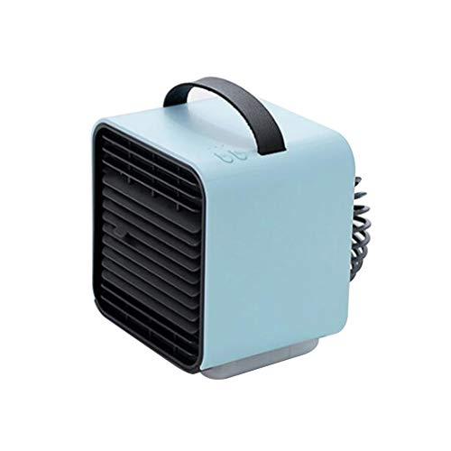 ALYR 3-in-1 Personal Condizionatori, Portatile Mini USB Condizionatore Ventilatore Multiuso Raffreddatore d'Aria Refrigeration/Umidificatore/Purificatore d'Aria per la tavola Home Office,Blue