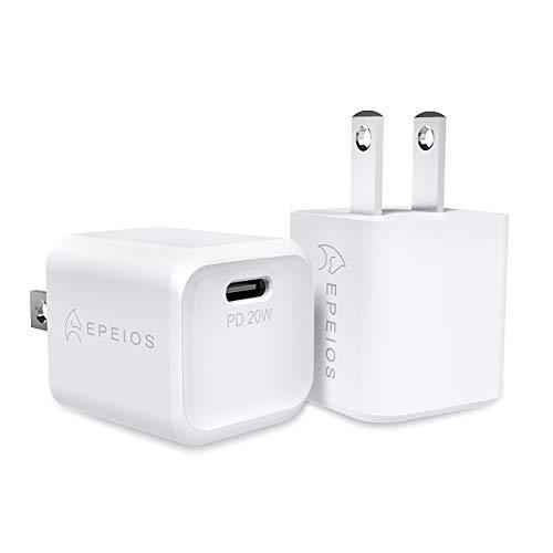 【2個セット】 Epeios PD 充電器 20W USB-C 急速充電器 超小型 【PSE認証済 / Power Delivery 3.0】 iPhone 12 / 12 Pro /12 Mini/ 11/11 Pro /11 Pro Max iPhoneXS/XS Max/XR /iPad Air(第4世代)/Android その他 各種機器対応 (ホワイト) PA223A