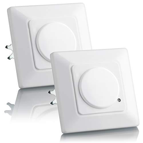 SEBSON® 2X Detector de Movimiento empotrable, Interior, HF...