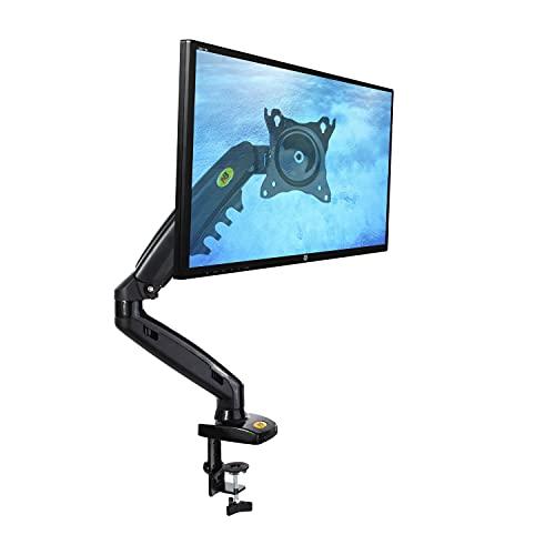 Ergosolid Support Écran PC Moniteur, Bras Articulé Ergonomique Ressort à Gaz, 17-30 Pouces, VESA 75mm et 100mm, Rotatif à 360°