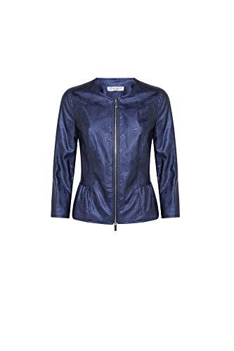 VERONICA Moda, chaqueta corta de piel sintética para mujer, fabricada en Italia turquesa 50