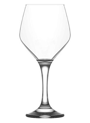Vikko 15.25 Ounce Stemmed Water Goblets | Beautiful Glasses for Entertaining – Dishwasher Safe – Glass Stemware For Water, Juice, Soda, or Cocktails – Set of 6 Clear Glass Water Goblets