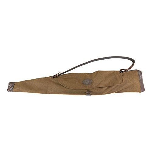 EUROHUNT Geräuschloses Gewehrfutteral aus Loden 125cm zusammenfaltbares Waffenholster Gewehr-Futteral Waffenkoffer Gewehrtasche