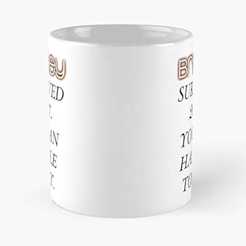 Desconocido Star Music Pop Spears Britney Love Amazing Handle Taza de café con Leche 11 oz