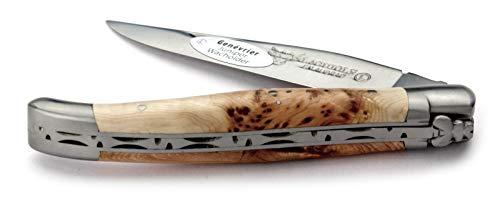 LAGUIOLE en Aubrac Taschenmesser L0211GEIF 11 cm, Griffschalen Wacholder, Klinge 9 cm matt, Backen matt