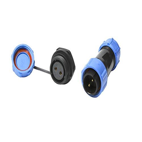 SP21 Panel Mount Circular Multipole Plug Socket Connectors 3D Printer Parts(Black & Blue 2 Pins)