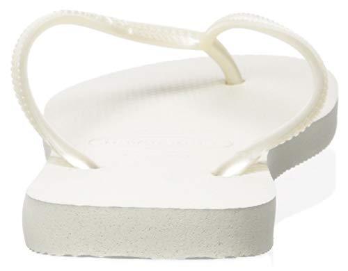 Havaianas Havaianas Damen Slim' Zehentrenner, Weiß (White 0001), 37/38 EU
