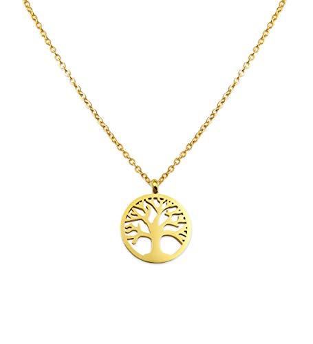 LUAMAYA El Mirador Necklace | Tree of Life | Hochwertige Edelstahl Damen Halskette für Frauen | Baum Anhänger | in Gold, Silber, Rosé