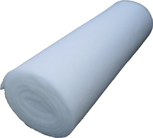 Volumenvlies 100g/m², 1,40 m breit x 2,50 lang, ca. 10 mm dick, 3,5 m², (EUR 3,00/m²) 100 % Polyester, waschbar, Öko-Tex Standard 100, Produktklasse 1, Patchworkvlies, Polstervlies, Watte, Meterware geeignet als Füllmaterial für z.B. Plüschtiere, Puppen, Bären, Kissen, usw. ... , ebenso geeignet als Einlage für Patchworkdecken, Tagesdecken, Stepparbeiten, Quiltarbeiten usw. ... .